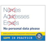 GDPR Sticker - Names Adresses, Emails Crossed Out