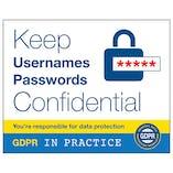 GDPR Sticker - Keep Usernames And Passwords Confidental