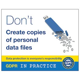 GDPR Sticker - Don't Create Copies Of Personal Data Files