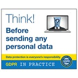 GDPR Sticker - Think Before Sending Any Personal Data