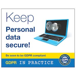 GDPR Sticker - Keep Personal Data Secure