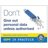 GDPR Sticker - Don't Give Out Personal Data Unless Authorised