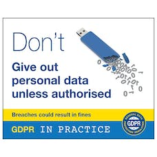 Don't Give Out Personal Data Unless Authorised