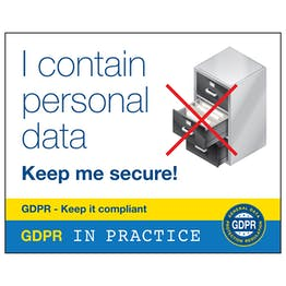 GDPR Sticker - I Contain Personal Data Keep Me Secure