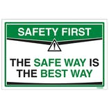 Safety First Signs