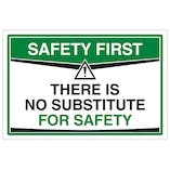 There Is No Substitute For Safety