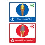 Wear Correct PPE / Don't Risk Your Safety!