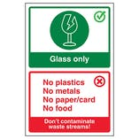 Glass Only / Don't Contaminate Waste Streams!