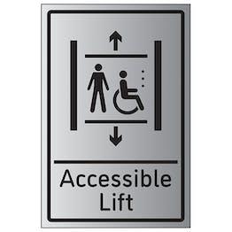 Accessible Lift - Aluminium Effect