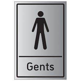 Gents Toilets - Aluminium Effect