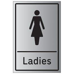 Ladies Toilets - Aluminium Effect