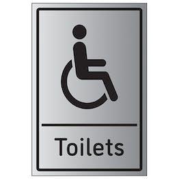 Disabled Toilets - Aluminium Effect - Portrait