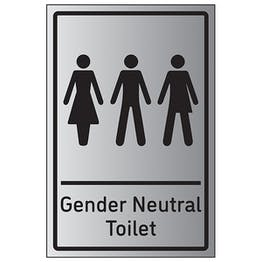 Gender Neutral Toilet - Aluminium Effect