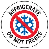 Refrigerate Do Not Freeze Circular Labels On A Roll