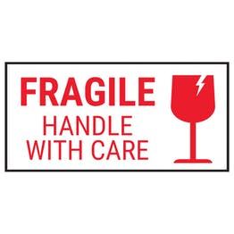 Fragile Handle With Care - Red Labels On A Roll