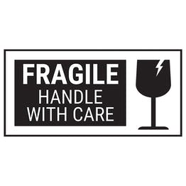 Fragile Handle With Care - Black Bold Labels On A Roll