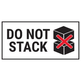 Do Not Stack Boxes Black Labels On A Roll - Landscape