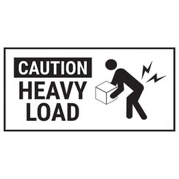 Caution Heavy Load Black Labels On A Roll - Landscape