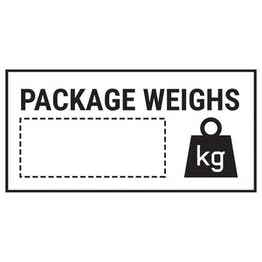 Caution Package Weighs Black Labels On A Roll - Landscape