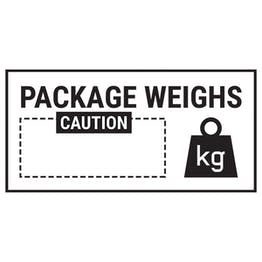 Caution Package Weighs Caution Black Labels On A Roll