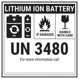 Lithium ION Battery Label - UN3480 Labels On A Roll