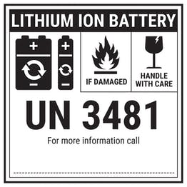 Lithium ION Battery Label - UN3481 Labels On A Roll