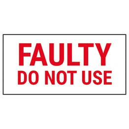 Faulty Do Not Use Labels On A Roll