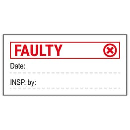 Faulty Write-On Labels On A Roll
