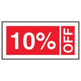 10% Off Labels On A Roll