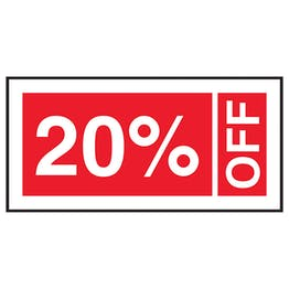 20% Off Labels On A Roll