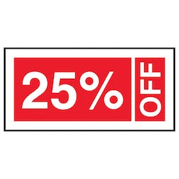 25% Off Labels On A Roll