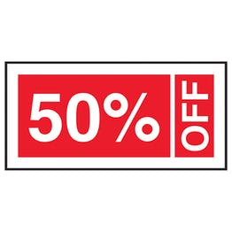 50% Off Labels On A Roll