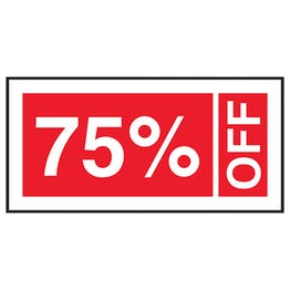 75% Off Labels On A Roll