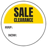 Sale Clearance Label - RRP / Now Circular Labels On A Roll