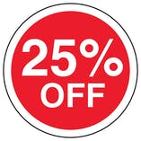 25% Off Circular Labels On A Roll