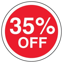 35% Off Circular Labels On A Roll