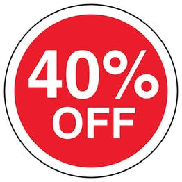 40% Off Circular Labels On A Roll
