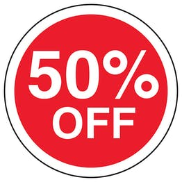 50% Off Circular Labels On A Roll