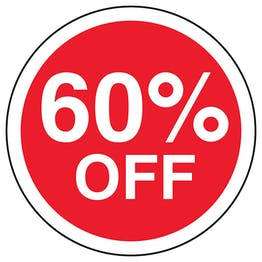 60% Off Circular Labels On A Roll
