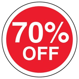 70% Off Circular Labels On A Roll