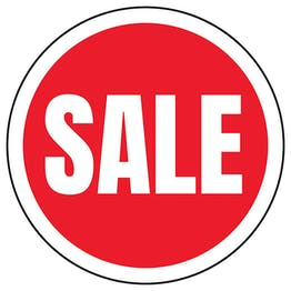 Sale Circular Labels On A Roll
