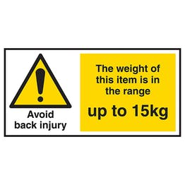 Avoid Back Injury - Weight Of This Item Up To 15kg Labels On A Roll
