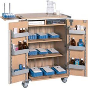 9 Rack Monitored Dosage System Drug Trolley