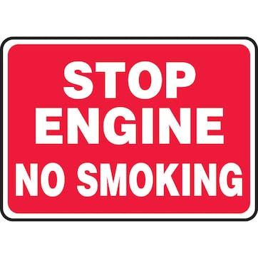 Stop Engine No Smoking