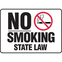 No Smoking State Law W/Graphic