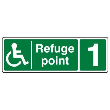Refuge Point with Number - Landscape