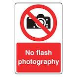No Flash Photography - Portrait