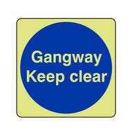 GITD Gangway Keep Clear