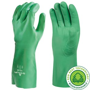 Showa 731 Biodegradable Flock Lined Nitrile Gauntlet