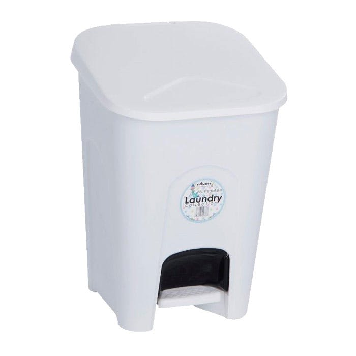White Plastic Pedal Bin 15 Litre